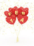 Balloons for valentines day Stock Images