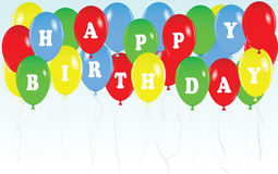 Balloons vector happy birthday Royalty Free Stock Photos