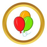Balloons vector icon, cartoon style Royalty Free Stock Image