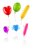 Balloons in vector icons. New and spoiled Royalty Free Stock Images