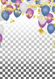 Balloons vector illustration Abstract background celebration gol. D confetti. vector background ,Gold confetti celebration Stock Photo