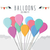 Balloons. Vector illustration of balloons for celebration Royalty Free Stock Images