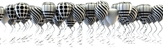 Balloons vintage party style. Royalty Free Stock Photos