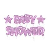Balloons a violeta da festa do bebê Ilustração Stock
