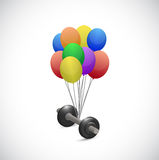 Balloons and weight illustration design Stock Photos