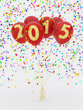 2015 balloons. On white background Stock Images