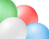 Balloons on a white background. Royalty Free Stock Image
