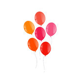 Balloons on a white background. Red orange pink balloons on a white background vector illustration Royalty Free Stock Photo