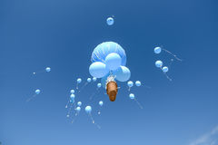 Balloons  on white Royalty Free Stock Images