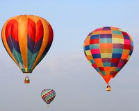 Balloons X. Hot air balloons photographed at the Bealton, Virginia Flying Circus Air Show Royalty Free Stock Photography