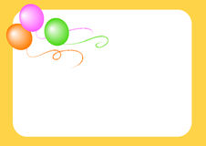 Balloons yellow background Royalty Free Stock Photos