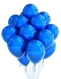 Ballooons azules del partido Imágenes de archivo libres de regalías