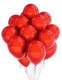 Ballooons rossi del partito Immagine Stock