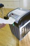 Ballot избирателя завершенный вставками Стоковые Изображения RF