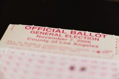 ballot 2 Стоковое Фото