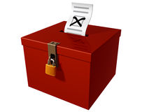 Ballot box. Isolated illustration of a stylized ballot box Royalty Free Stock Images