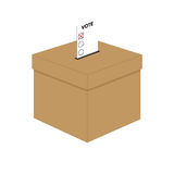 Ballot box. With voting paper Stock Photography