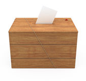 Ballot box. ( on white and clipping path Royalty Free Stock Photo