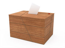 Ballot box. ( on white and clipping path Stock Photo
