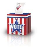 Ballot Box. Digital Illustration of a Ballot Box with a election ballot inserted vector illustration