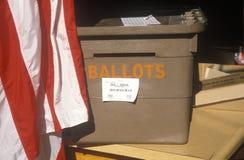 Ballot box. In a polling place, CA Stock Photos