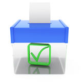 Ballot box. On white background. 3d rendered image Stock Photography