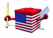 Ballot box with american flag Stock Photo