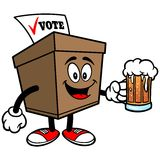Ballot Box with Beer Royalty Free Stock Images