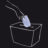 Ballot box black Royalty Free Stock Photos