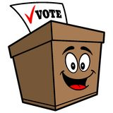 Ballot Box Cartoon Royalty Free Stock Images