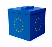 Ballot box colored with european flag Royalty Free Stock Image