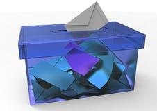 The ballot box. 3D isolate the ballot box color stock illustration
