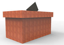 The ballot box. 3D isolate the ballot box color royalty free illustration