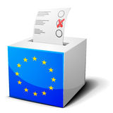 Ballot box EU Royalty Free Stock Image
