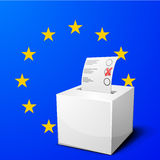 Ballot box EU Royalty Free Stock Photos