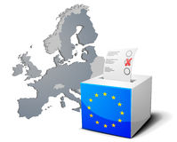 Ballot box Europe Royalty Free Stock Images