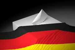 Ballot box. With the flag of Germany Stock Image