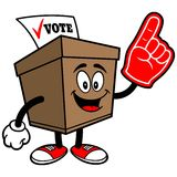 Ballot Box with Foam Finger Royalty Free Stock Photo