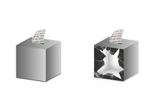Ballot box grey Royalty Free Stock Image