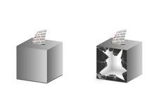 Ballot box grey Royalty Free Stock Image