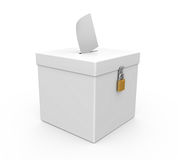 Ballot Box Isolated Stock Photography