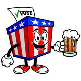 Ballot Box Mascot with Beer Royalty Free Stock Photo