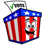 Ballot Box Mascot Royalty Free Stock Photo