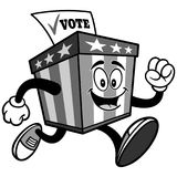 Ballot Box Mascot Running Illustration Royalty Free Stock Image