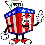 Ballot Box Mascot Talking Stock Images