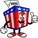 Ballot Box Mascot with Thumbs Up Royalty Free Stock Images