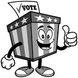 Ballot Box Mascot with Thumbs Up Illustration Royalty Free Stock Images