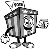 Ballot Box Mascot with Water Illustration Stock Photos