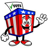 Ballot Box Mascot Waving Royalty Free Stock Photos