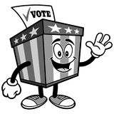 Ballot Box Mascot Waving Illustration Royalty Free Stock Photography